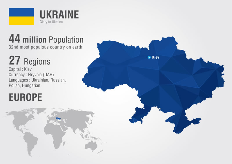 dedicated software development team in Ukraine map